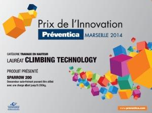 prix de l'innovation climbing technology