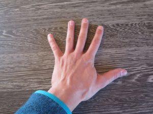 la mano di Tamara