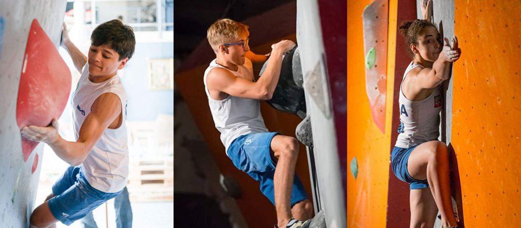 I nostri giorgia, pietro e matteo al mondiale giovanile di arrampicata