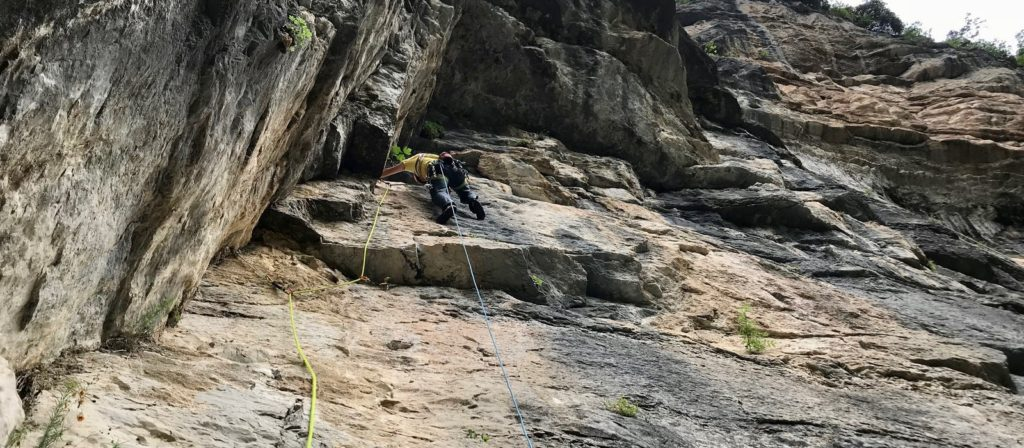 Francesco Salvaterra opened a new route in the Canyon of Limarò